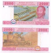 Central African St. Gabon - 2000 Francs 2002 A Pick 408A(3) UNC Lemberg-Zp - Zentralafrikanische Staaten