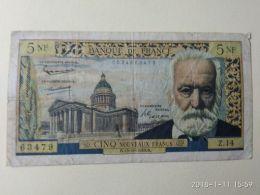 5 Francs 1959 - 5 NF 1959-1965 ''Victor Hugo''