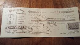 MANDAT A ORDRE ILLUSTRE DE  1901 MERCERIE EN GROS TOULOUSE - Bills Of Exchange