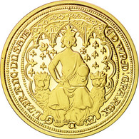 Grande-Bretagne, Medal, Reproduction Edward Gold Coin, FDC, Or - Autres