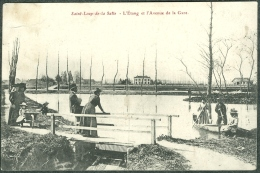 71 Saône-et-Loire - Saint-Loup-de-la-Salle L´étang Et L´Avenue De La Gare 1909 - Autres Communes