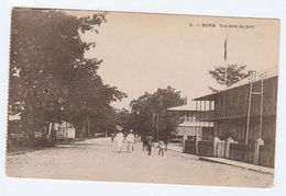 Colonial  BELGIAN CONGO Postcard BOMA PORT,  STREET,  PEOPLE, HOUSES - Belgian Congo - Other