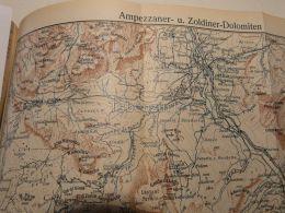 Cortina D'Ampezzo Ampezanner Dolomiten Zoldiner Dolomiten Italy Austria Map Mappa Karte 1928 - Carte Geographique
