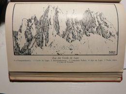 Cortina D'Ampezzo Ampezanner Dolomiten Zug Der Croda Da Lago Italy Austria Map Mappa Karte 1928 - Carte Geographique
