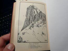 Cortina D'Ampezzo Ampezanner Dolomiten Becco Di Mezzodi Italy Austria Map Mappa Karte 1928 - Carte Geographique