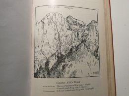 Zoldiner Dolomiten Civettagruppe Civetta Eule Italy Austria Map Mappa Karte 1928 - Carte Geographique