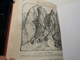 Grödner Dolomiten Val Gardena Sass Rigais Italy Austria Map Mappa Karte 1928 - Carte Geographique