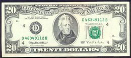 USA 20 Dollar 1995 D AUNC Rare # P- 500 D - Cleveland OH - Federal Reserve Notes (1928-...)