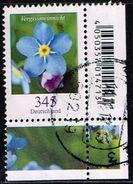 Bund 2017, Michel# 3324 O Blumen: Vergissmeinicht Eckrand - Used Stamps