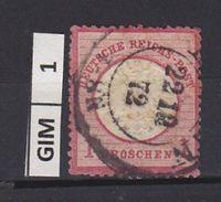 GERMANIA IMPERO , 1872aquila In Rilievo, 1 Gr Usato - Germania