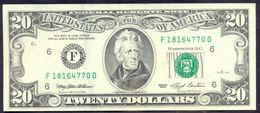 USA 20 Dollar 1993 F XF Rare # P- 493 F - Atlanta GA - Federal Reserve Notes (1928-...)