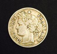 . France - 2 Francs Cérès Sans Légende - 1871 K (Bordeaux) - Gadoury #529 - France