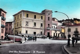 SANT'ELIA FIUMERAPIDO - IL MUNICIPIO - F/G - V: 1970 - ANIMATA - AUTO - Autres Villes