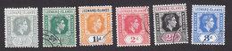 Leeward Islands, Scott #120-125, Used, George VI, Issued 1949 - Leeward  Islands