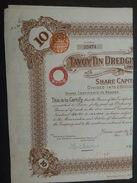 Lot 2 TAVOYTINDging 1926 - BIRMANIE - Actions & Titres