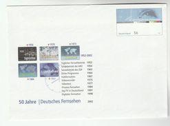 2002 GERMANY Illus STATIONERY COVER Anniv  VIDOETEX TELEVISION   Digital Tv Map Broadcasting Stamps Postal Cover - Telecom