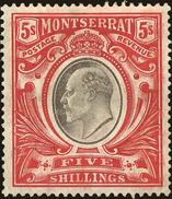 Montserrat Scott #21, 1903, Stanley Gibbons No., Hinged - Montserrat
