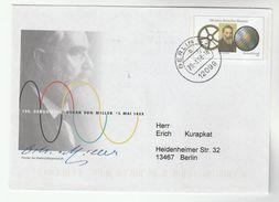 2008 GERMANY Illus STATIONERY  Oskar VON MILLER  ELECTROTECHNOLOGY  Postal Cover Electricity Stamps Physics - Physics