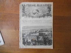 LA PRESSE ILLUSTREE DU 27 NOVEMBRE 1875 BAZEILLES APRES LA GUERRE,LE MAGENTA SOUS LES FLOTS,INSURRECTION DE L'HERZEGOVIN - Livres, BD, Revues