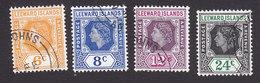 Leeward Islands, Scott #139-142, Used, Queen Elizabeth II, Issued 1954 - Leeward  Islands