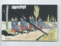 CPA  -  Mai - Marches D'Epreuves  - Illustrateur Malespina - Militaires , Militaire , Soldat , Soldats - Humour