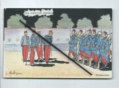 CPA  -  Juin - Inspection Générale   - Illustrateur Malespina - Militaires , Militaire , Soldat , Soldats - Humour