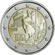 Austria 2euro Cc - 100 Años Da República Da Austria - 2018 - Autriche
