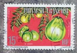 POLYNESIE - YT Service N°8 (B) - Dentelé 13 - Fruits - 1977 - Service