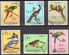 Panama 1967 Birds Set Of 6 Used / CTO - Panama