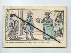 CPA  - Quand Le Poilu Reviendra  - Illustrateur Louis Morin - Militaire , Soldat (pub Au Verso: E.Coudray  Paris ) - Humour