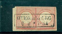Adler Mit Grossem Brustschild; Nr.19 Auf Briefstück, Stempel Quedlinburg - Deutschland