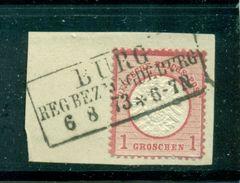 Adler Mit Grossem Brustschild; Nr.19 Auf Briefstück, Stempel Burg Bei Magdeburg - Deutschland