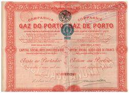 Action Ancienne - COMPANHIA DO GAZ DO PORTO COMPAGNIE DU GAZ DE PORTO - Titre De 1906 - Electricity & Gas