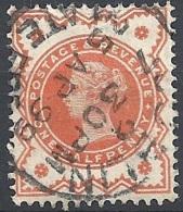 Great Britain - 1887 Q.V. ½p Vermilion, Wmk Imp. Crown # SG 197 - Michel 86  - Scott 111 - Y.&T. 91 USED - Used Stamps