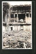 AK Berlin-Tiergarten, Zerstörter Plenarsaal Im Reichstag, Königsplatz - Catastrophes
