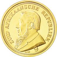 Afrique Du Sud, Medal, Reproduction Pond 1898, FDC, Or - Tokens & Medals