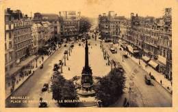 BRUXELLES - Place De Brouckère Vers Le Boulevard Anspach - Places, Squares