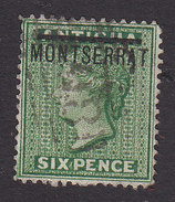 Montserrat, Scott #2, Used, Victoria Overprinted, Issued 1876 - Montserrat