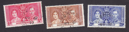 Montserrat, Scott #89-91, Used, Coronation Issue, Issued 1937 - Montserrat