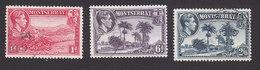 Montserrat, Scott #93a, 98a, 100a, Used, Scenes Of Montserrat, Issued 1941 - Montserrat