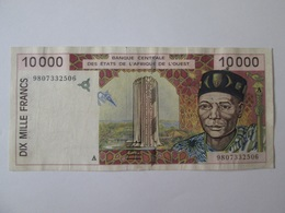 Cote D'Ivoire/Ivory Coast-West Africa State 10000 Francs 1998 Banknote - Côte D'Ivoire