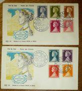 """Monaco  2 FDC (YT 478 à 486) """" Naissance Princesse Caroline """" 1957 - 1er Jour (Réf 18-08) - FDC"""
