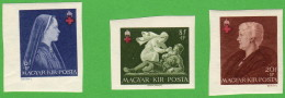 HUN SC #B148-50 MH(HR) IMPERF 1942 Hungarian Red Cross CV $9.00 (if NH) - Unused Stamps