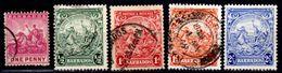 Barbados 1892-1935, Scott #72, 166, 167, 168, 170, Used - Barbados (1966-...)