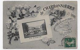 CHARBONNIERES LES BAINS EN 1910 - LE CASINO - BEAU CACHET - CPA VOYAGEE - Charbonniere Les Bains