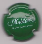 Capsule Mousseux ( MABILON Saarburg , Mousseux Allemagne , Vert Et Blanc ) {S03-18} - Sparkling Wine