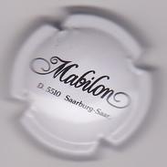 Capsule Mousseux ( MABILON Saarburg , Mousseux Allemagne , Blanc Et Noir ) {S03-18} - Sparkling Wine