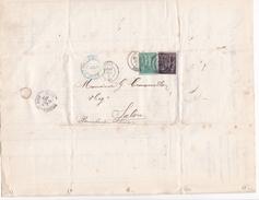 ANNEE 1884 / DEULEMONT / HALLUIN / LILLE / ERNEST CUSSON / TISSAGE MECANIQUE / ENVELOPPE TIMBREE + FACTURE + LETTRE - Kleidung & Textil