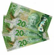 NEW ZEALAND 20 DOLLARS ND (2016) P-193a UNC 3 PCS [NZ139a] - New Zealand