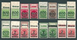 MiNr. 301-312 ** Oberrand  (0200) - Unused Stamps